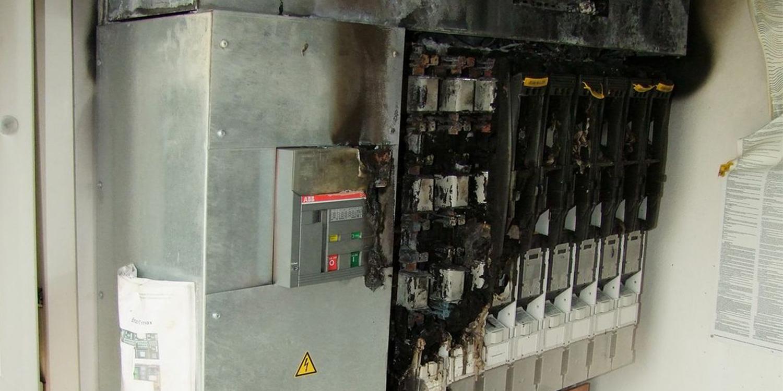 Brand in elektrischen Anlagen